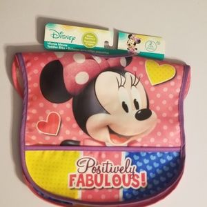 2 pack Disney Minnie Mouse water resistant bibs